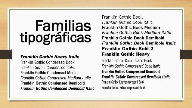 tipográficas Familias