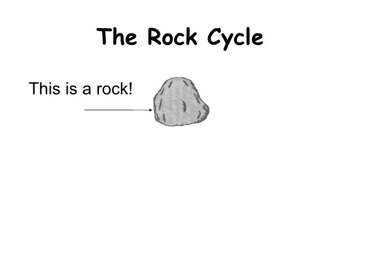 The Rock Cycle This is a rock!