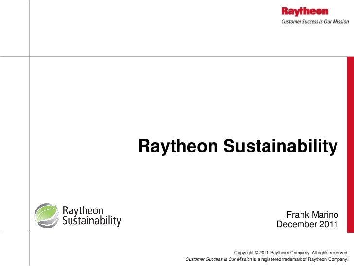 Raytheon Sustainability                                                  Frank Marino                                     ...