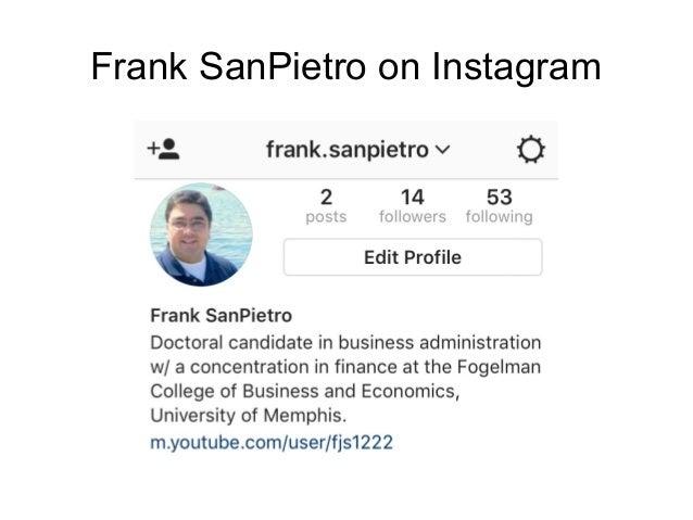 Frank SanPietro on Instagram