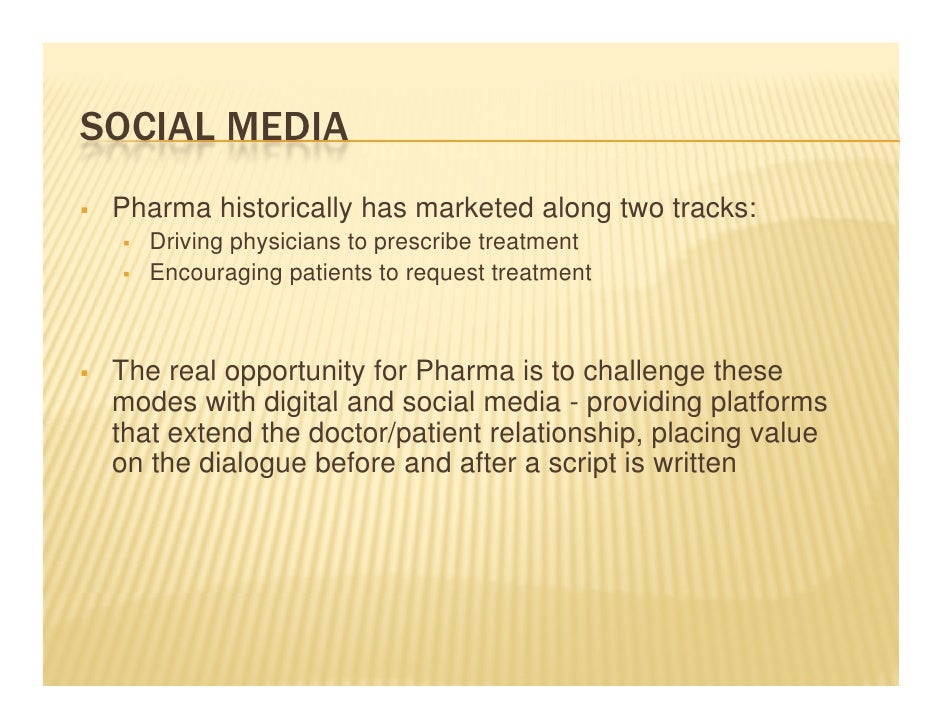 A Doctor's Perspective on the Future Role of Pharmaceutical