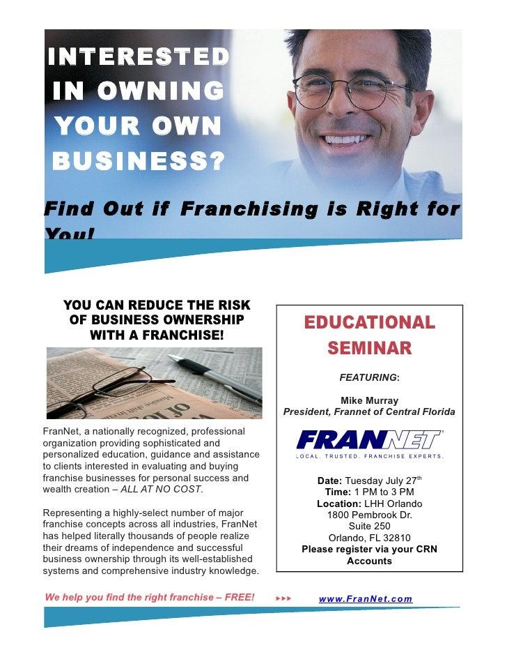Fran Net Seminar Flyer 7 27 10 – Seminar Flyer
