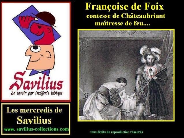 Françoise de Foix comtesse de châteaubriant maîtresse de feu