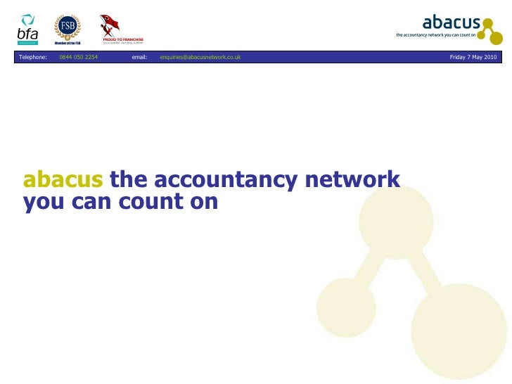 abacus  the accountancy network  you can count on