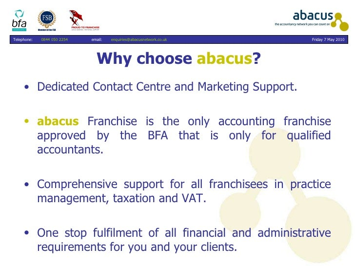 Info for accountants re the abacus network
