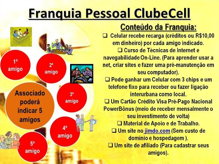 Franquia Pessoal ClubeCell  1º                  2ºamigo           amigo  Associado  FAÇA SUA                3º    poderá  ...