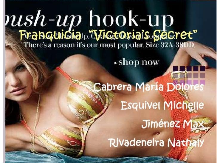 """Franquicia  """"Victoria'sSecret"""" Cabrera María DoloresEsquivel MichelleJiménez MaxRivadeneiraNathaly"""