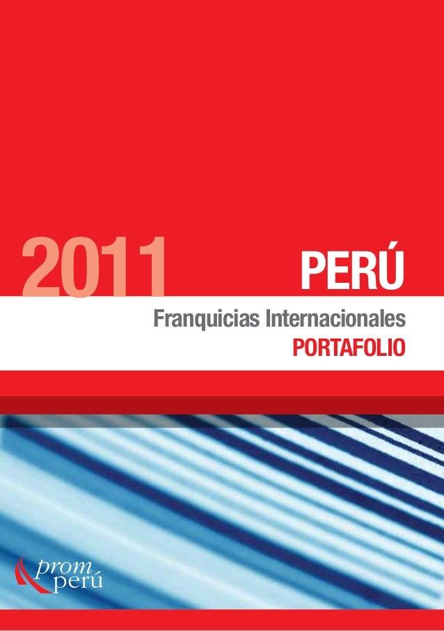 PERÚ Franquicias Internacionales PORTAFOLIO 2011