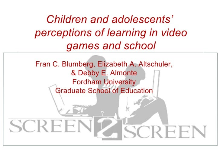 Fran C. Blumberg, Elizabeth A. Altschuler, & Debby E. Almonte Fordham University Graduate School of Education Children and...