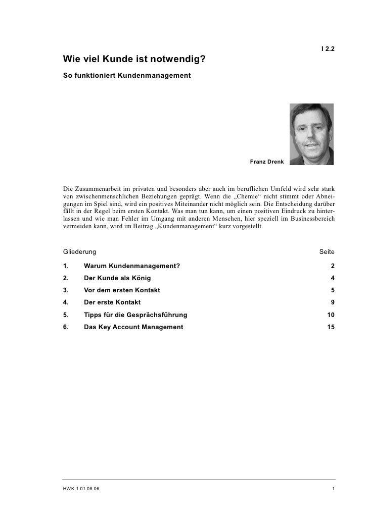 Franz Drenk: So funktioniert Kundenmanagement