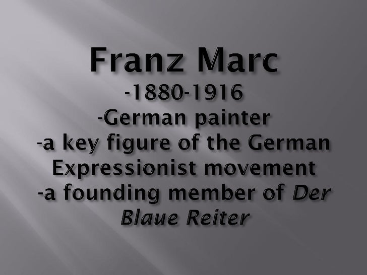 Franz Marc PowerPoint   pdf