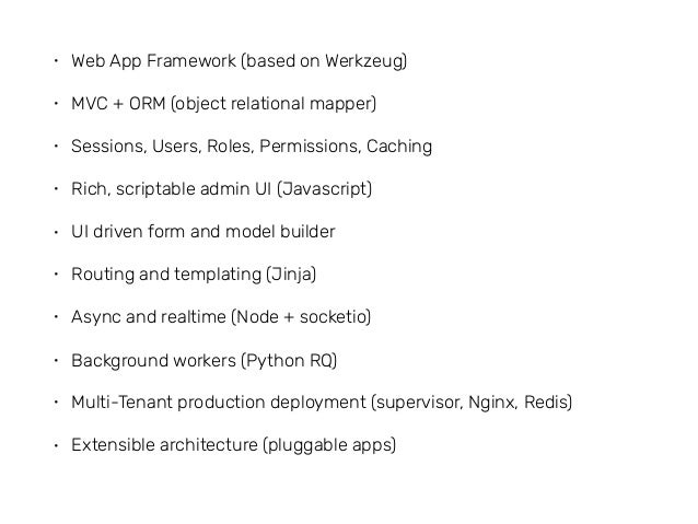 Frappé Framework - A Full Stack Web Framework Slide 3