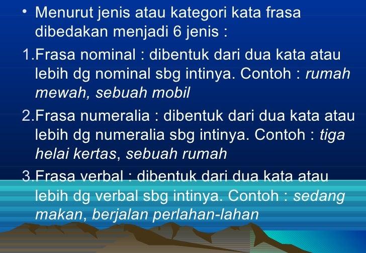Frasa Bahasa Indonesia
