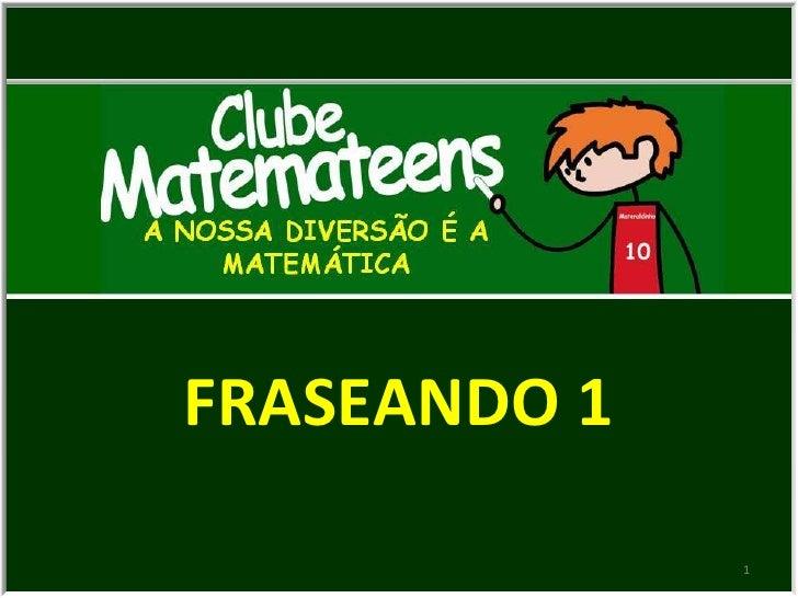 1 FRASEANDO 1