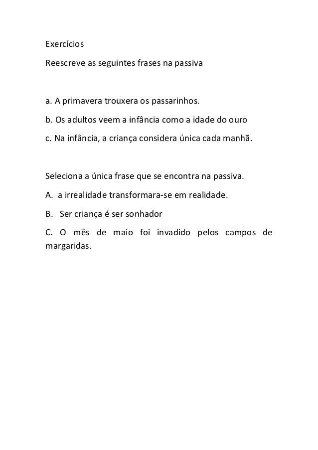 Frase ativa e frase passiva Slide 3