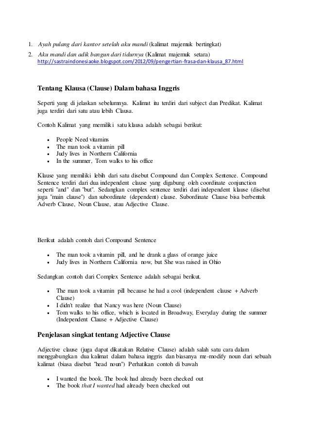 Frase Bahasa Indonesia