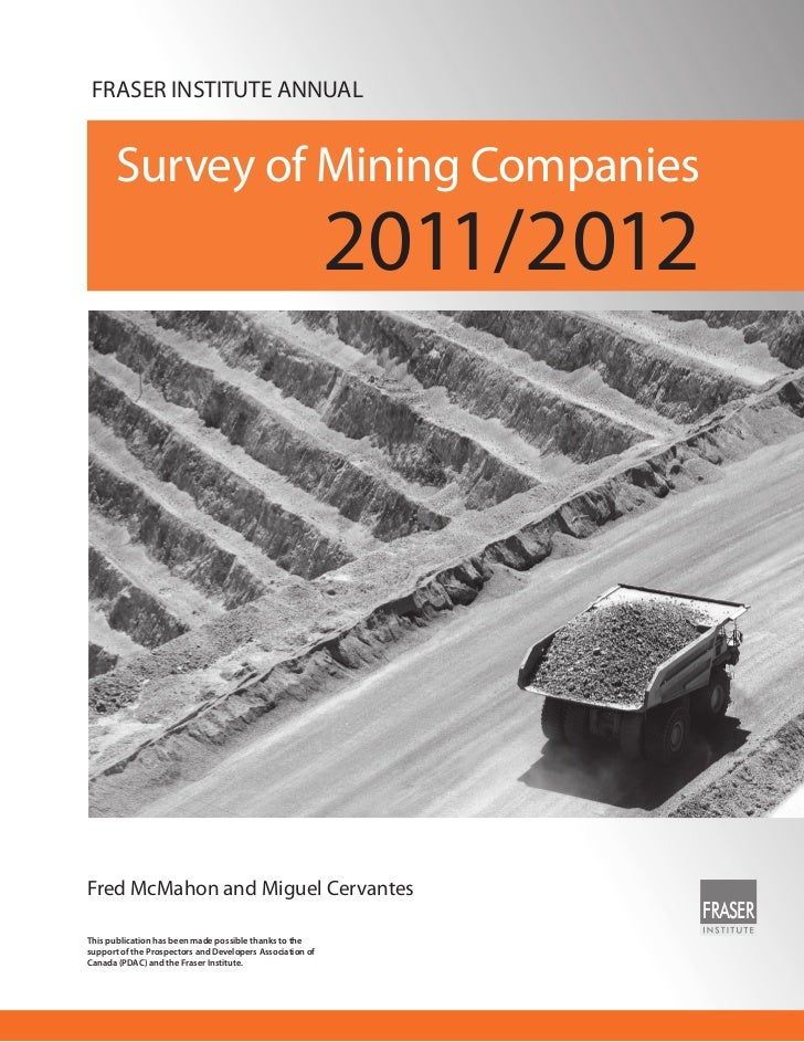 FRASER INSTITUTE ANNUAL       Survey of Mining Companies                                                           2011/20...