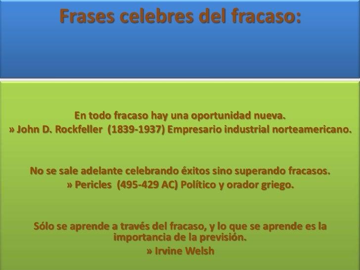 Frases Celebres Del Fracaso