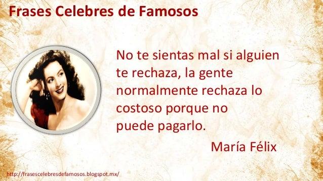 Frases Célebres De Maria Félix
