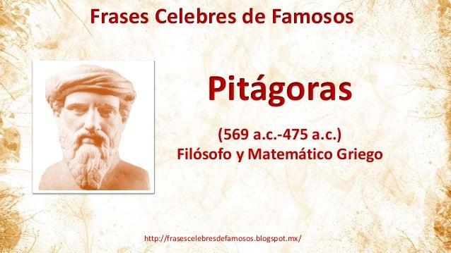 Super Frases Célebres de Pitágoras UD28