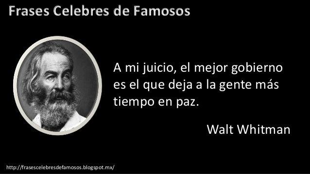 Frases Célebres De Walt Whitman