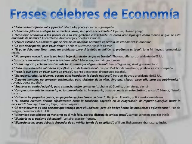Frases Célebres De Economía