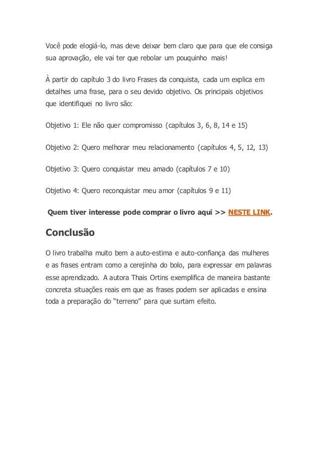 Ebook Frases Da Conquista
