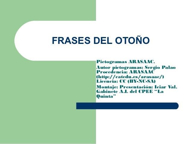 Frases del otoo Pictogramas ARASAAC