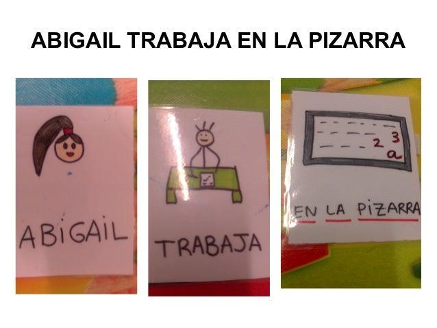 ABIGAIL TRABAJA EN LA PIZARRA