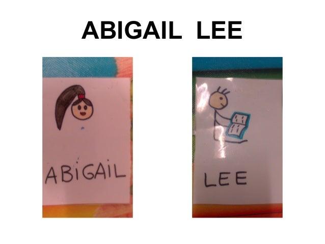 ABIGAIL LEE