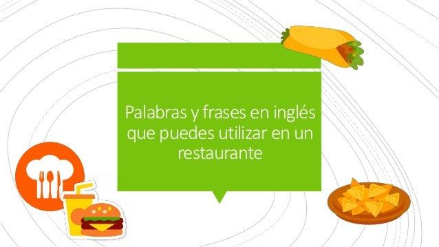 Frases En Inglés Para Ordenar En Un Restaurante Como Experto