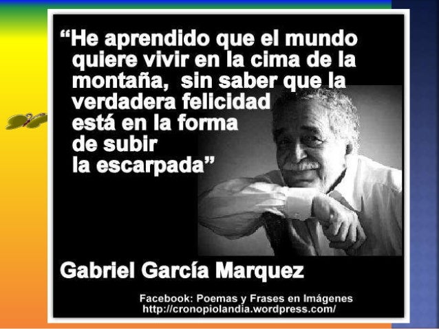 Frases Garcia Marquez