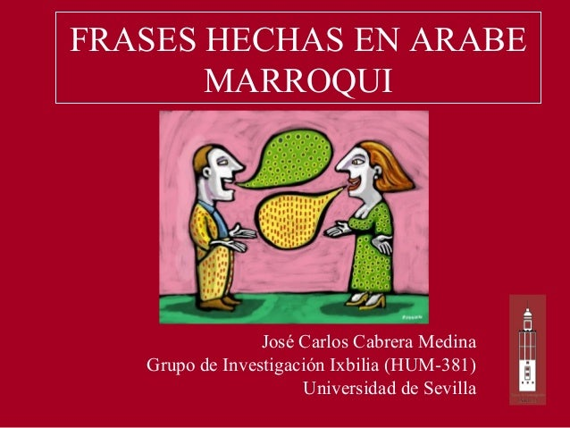 Frases Hechas En árabe Marroqui