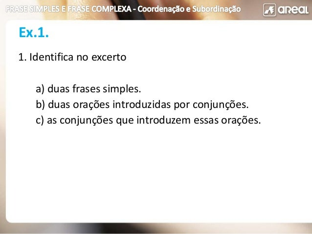Frase Simples Complexa Coord_subord