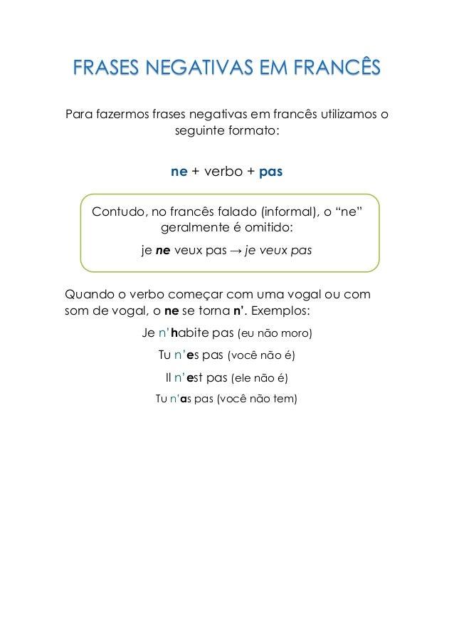 Frases Negativas Em Francês