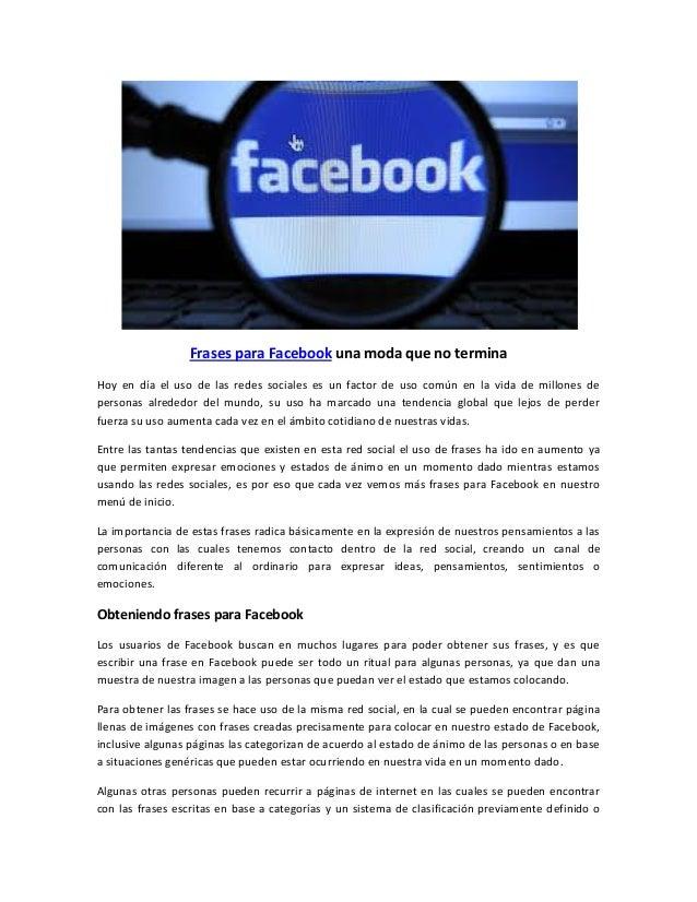 Frases Para El Facebook