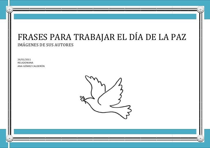Frases De Paz Infantil Imagui