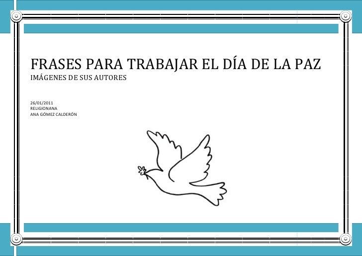 Frases paz