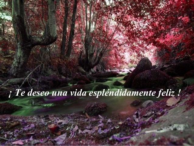 ¡ Te deseo una vida espléndidamente feliz !
