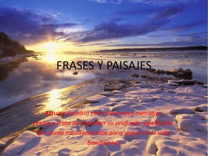 Frases Y Paisajes