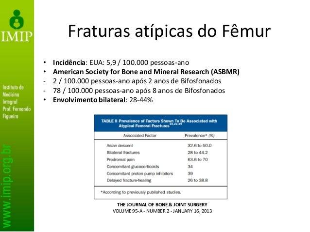 Fraturas atípicas do Fêmur • Recomendações * Teriparatide enhances and accelerates fracture-healing by increasing callus f...