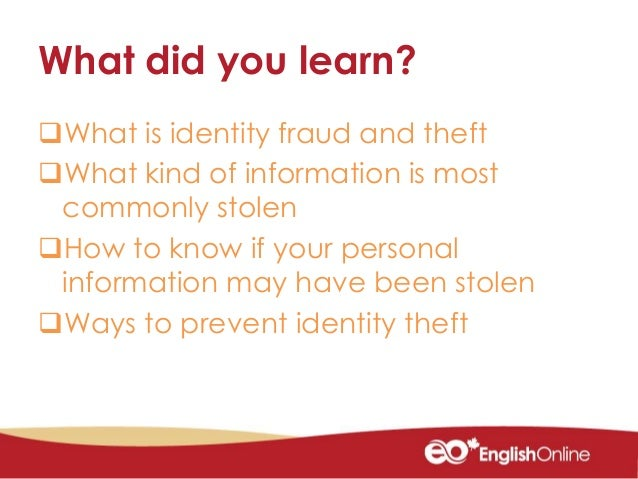 how to avoid identity theft online