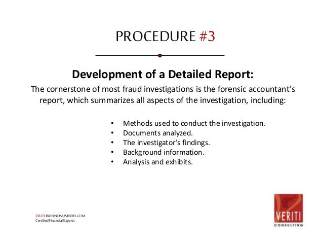 Fraud Investigation Process And Procedures