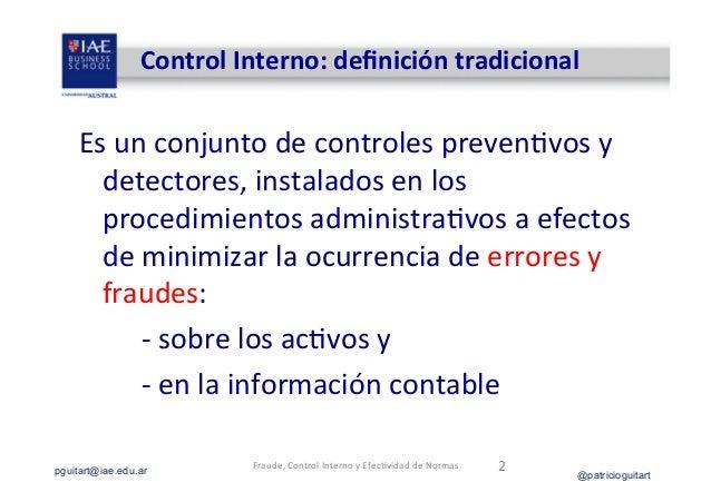 Fraude y Control Interno_Guitart_jun13 Slide 2