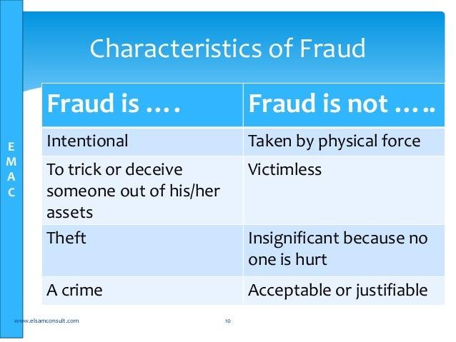 characteristics of management fraud