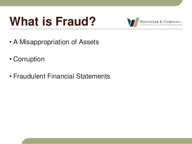 Whitinger & Company Fraud Seminar Slide 2