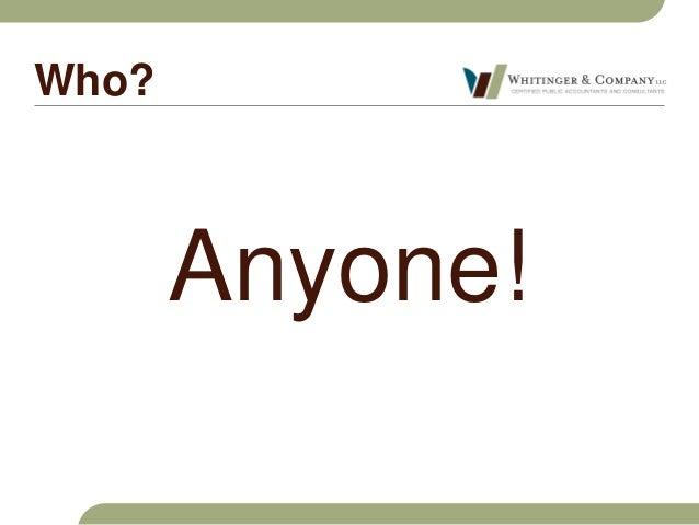 Whitinger & Company Fraud Seminar Slide 3