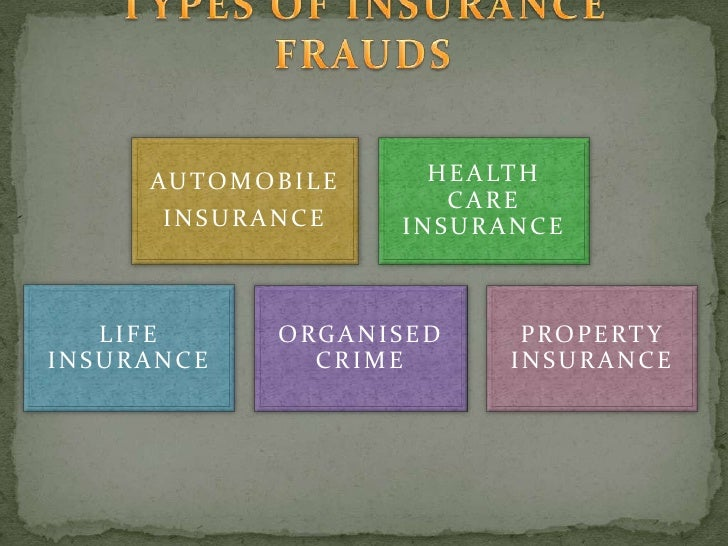 Frauds in insurance company