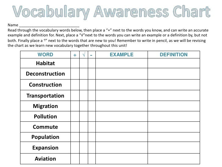 the definition of vocabulary pdf