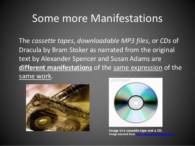 Some more Manifestations The cassette tapes, downloadable MP3 files, or CDs of Dracula by Bram Stoker as narrated from the...